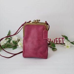 Vintage Coach Pink Double Kisslock Swing Bag